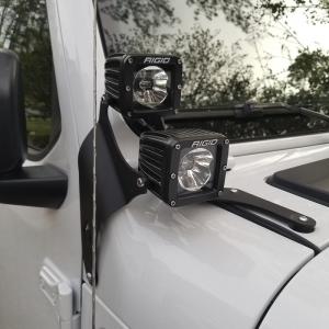 Par De Bases Dobles Para Faros Led Jeep JL